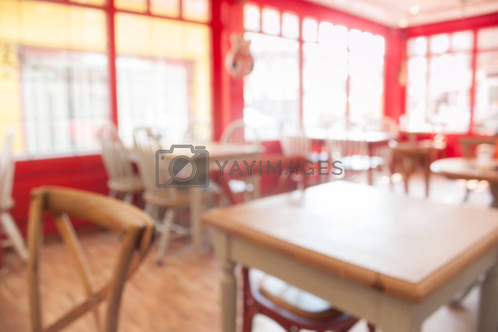 Coffee shop abstract blur background, stock photo