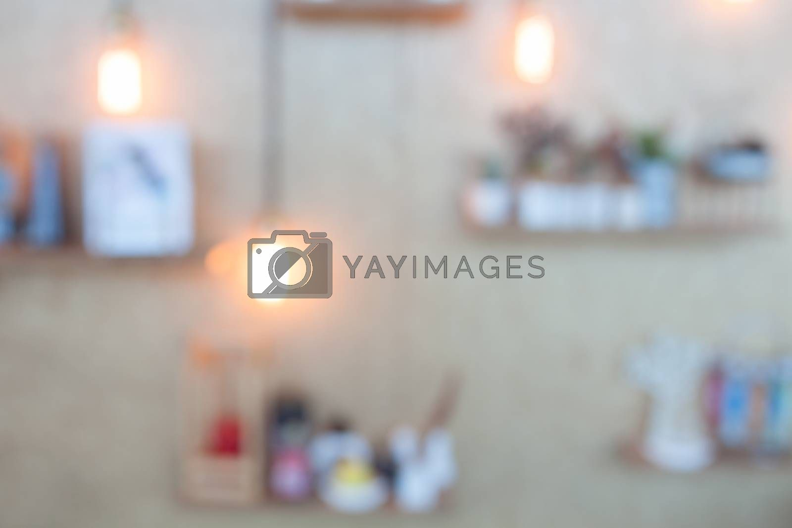 Abstract blurred Vintage lighting decorated on brown background, stock photo