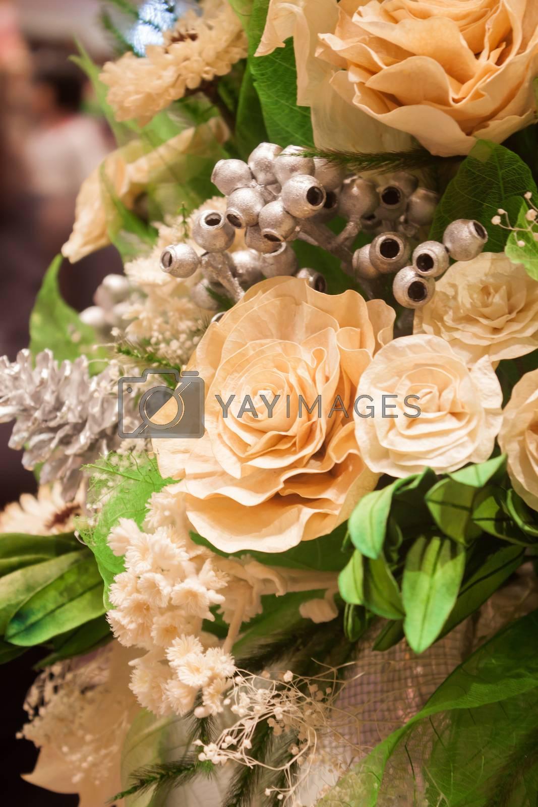 Imitation bouquet of beautiful flower, stock photo