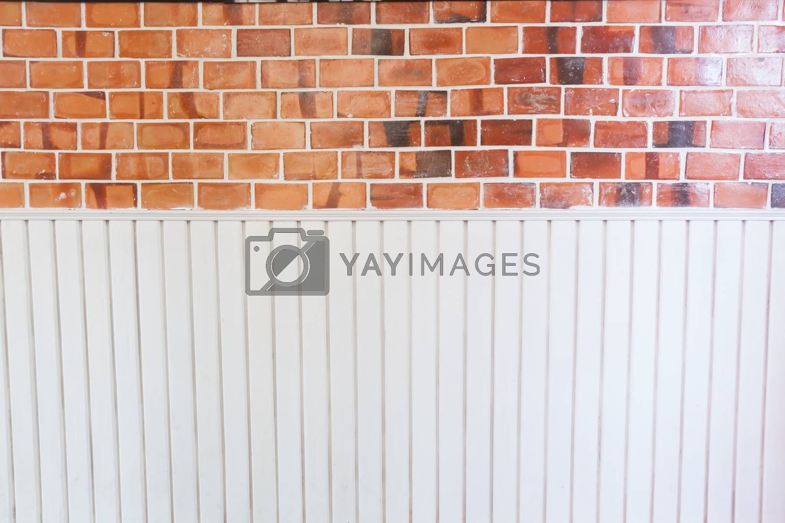 Musical notes on brick background, stock photo