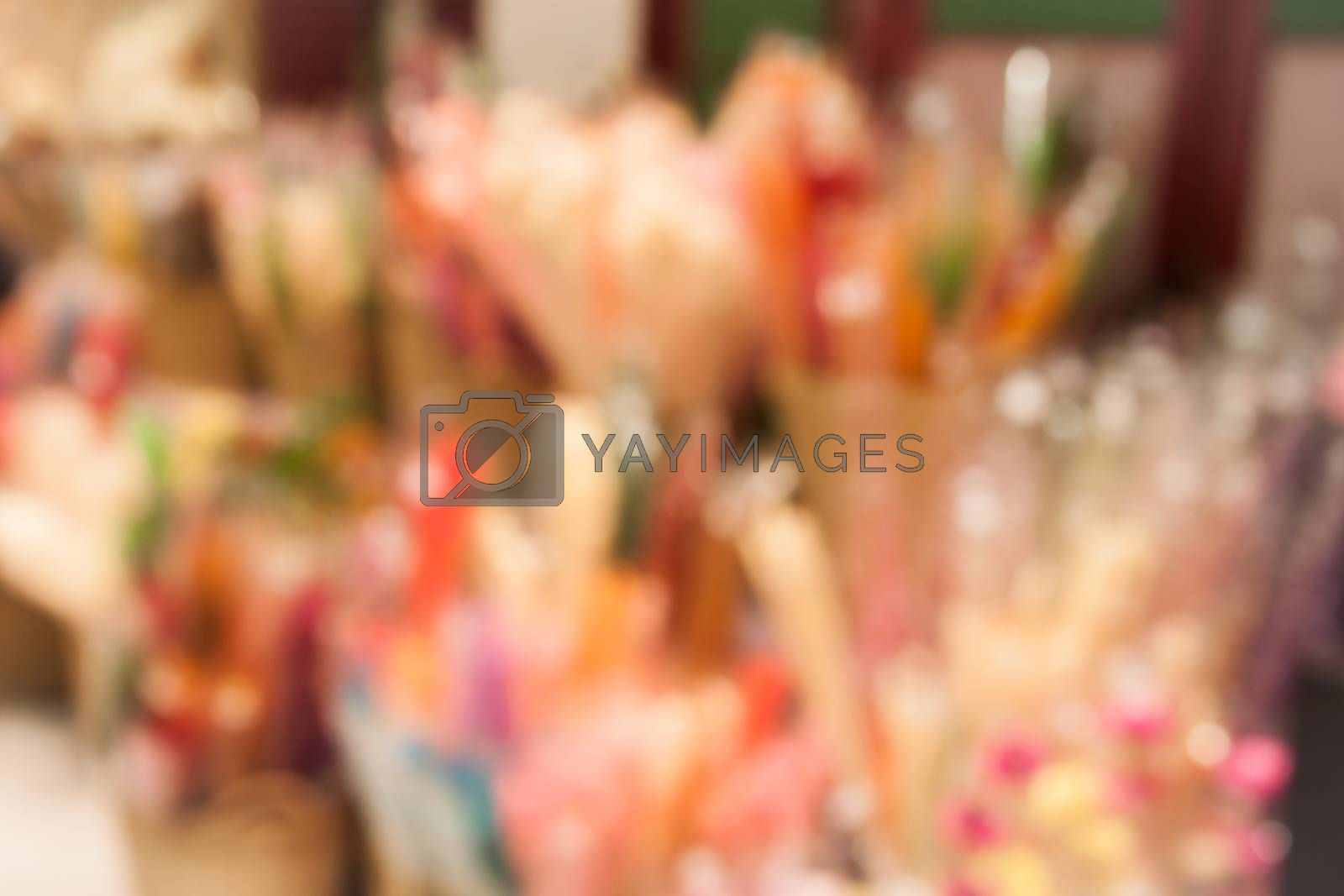 Abstract blur exposition halls interior for background, stock photo