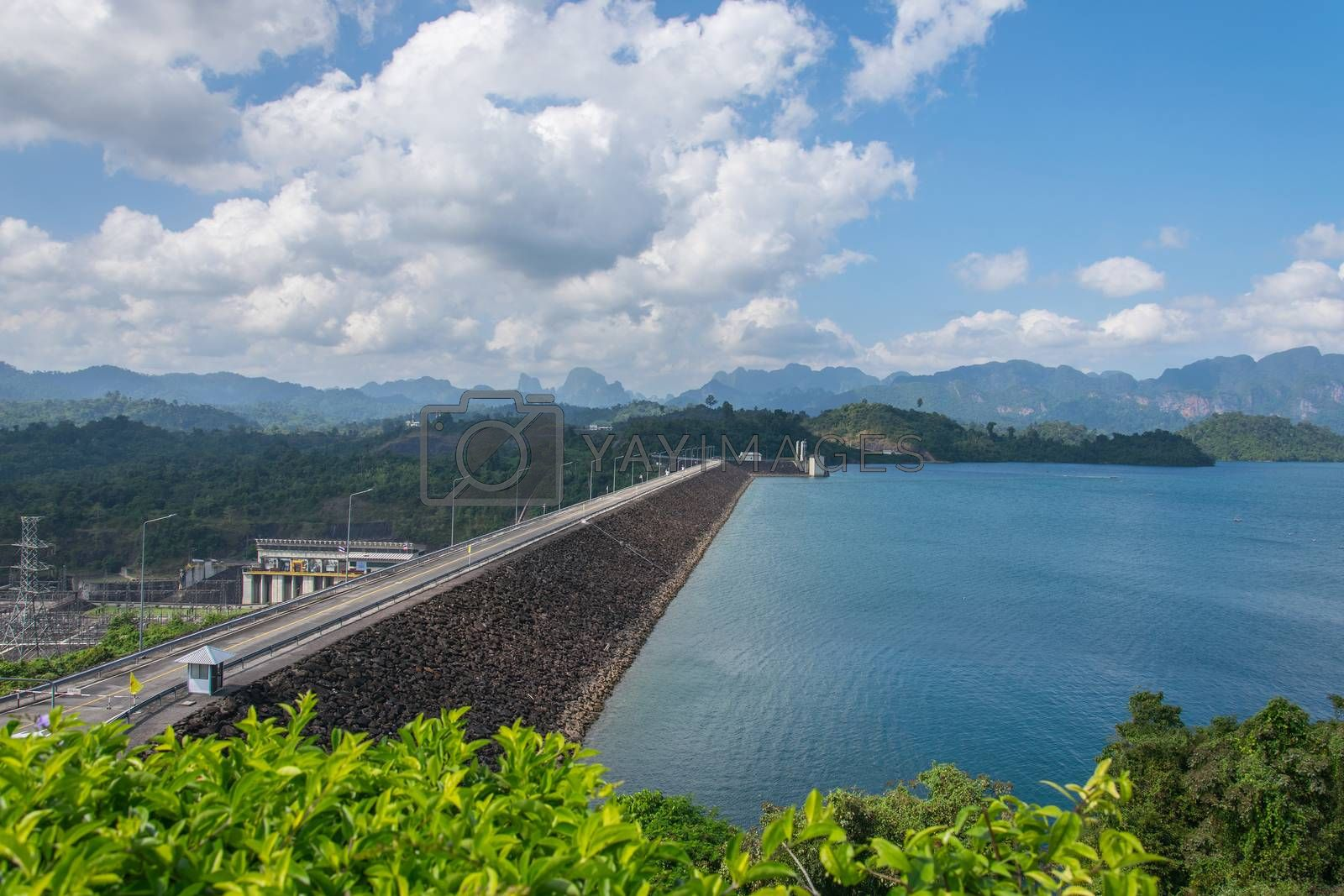 Beautiful mountains in Ratchaprapha Dam at Khao Sok National Park, Surat Thani Province, Thailand