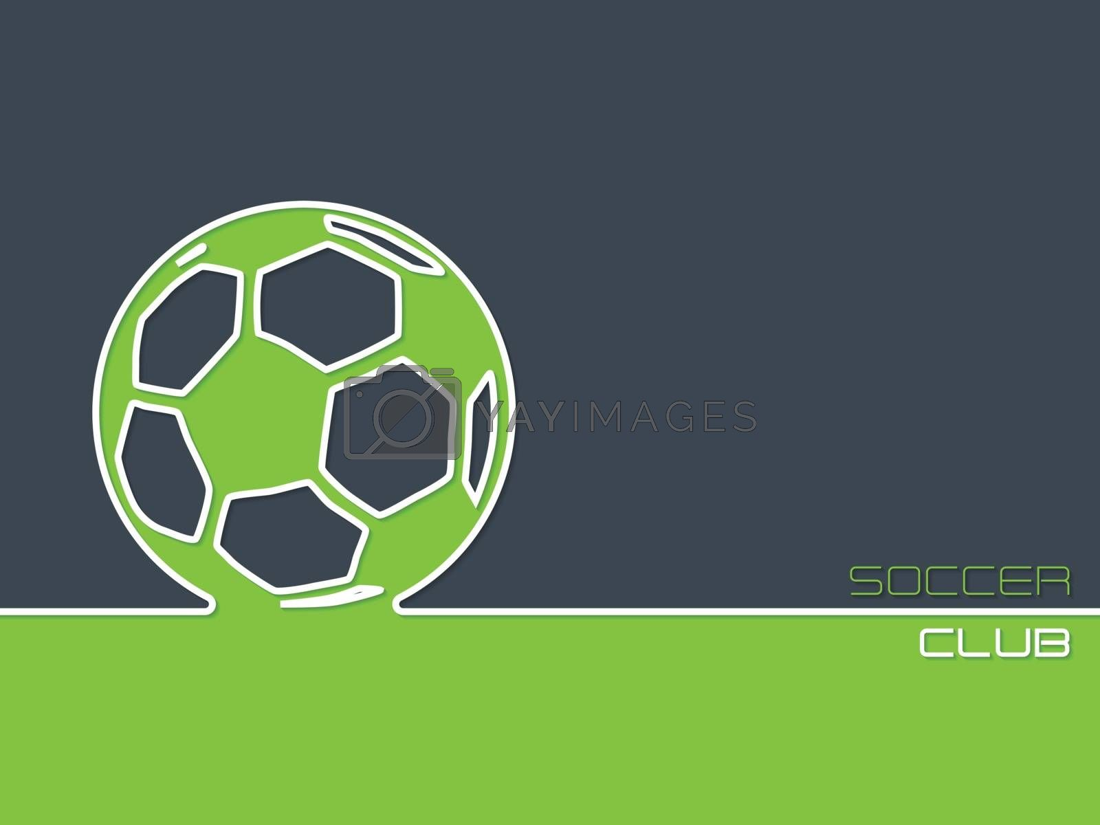 Soccer club advertising background design flat style