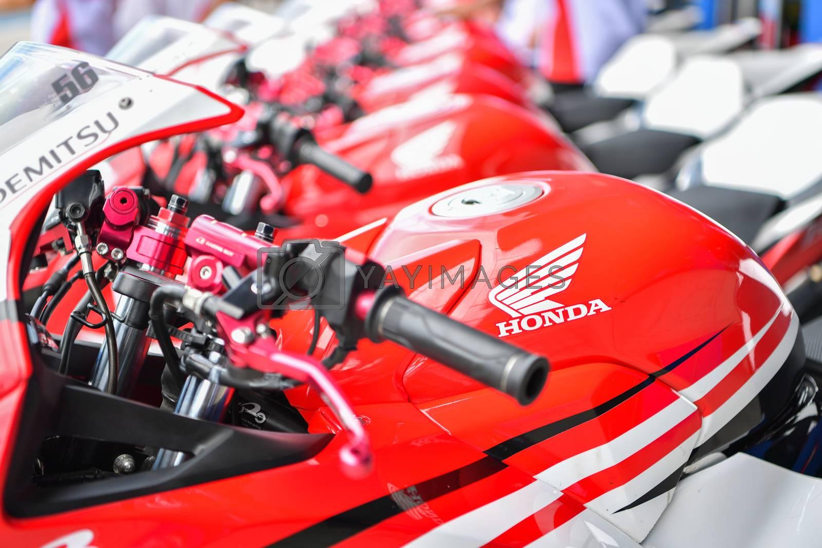 BURIRAM - DECEMBER 4 : Honda CBR300R motorcycle in Asia Road Racing Championship 2016 Round 6 at Chang International Racing Circuit on December 4, 2016, Buriram, Thailand.