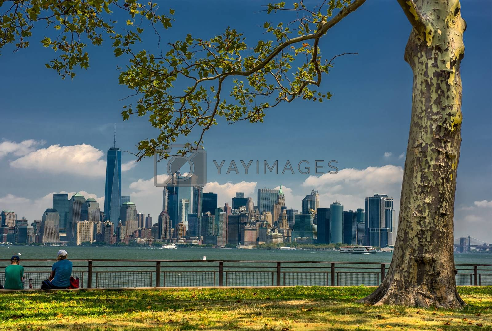 NY Sky panorama from the lberty island