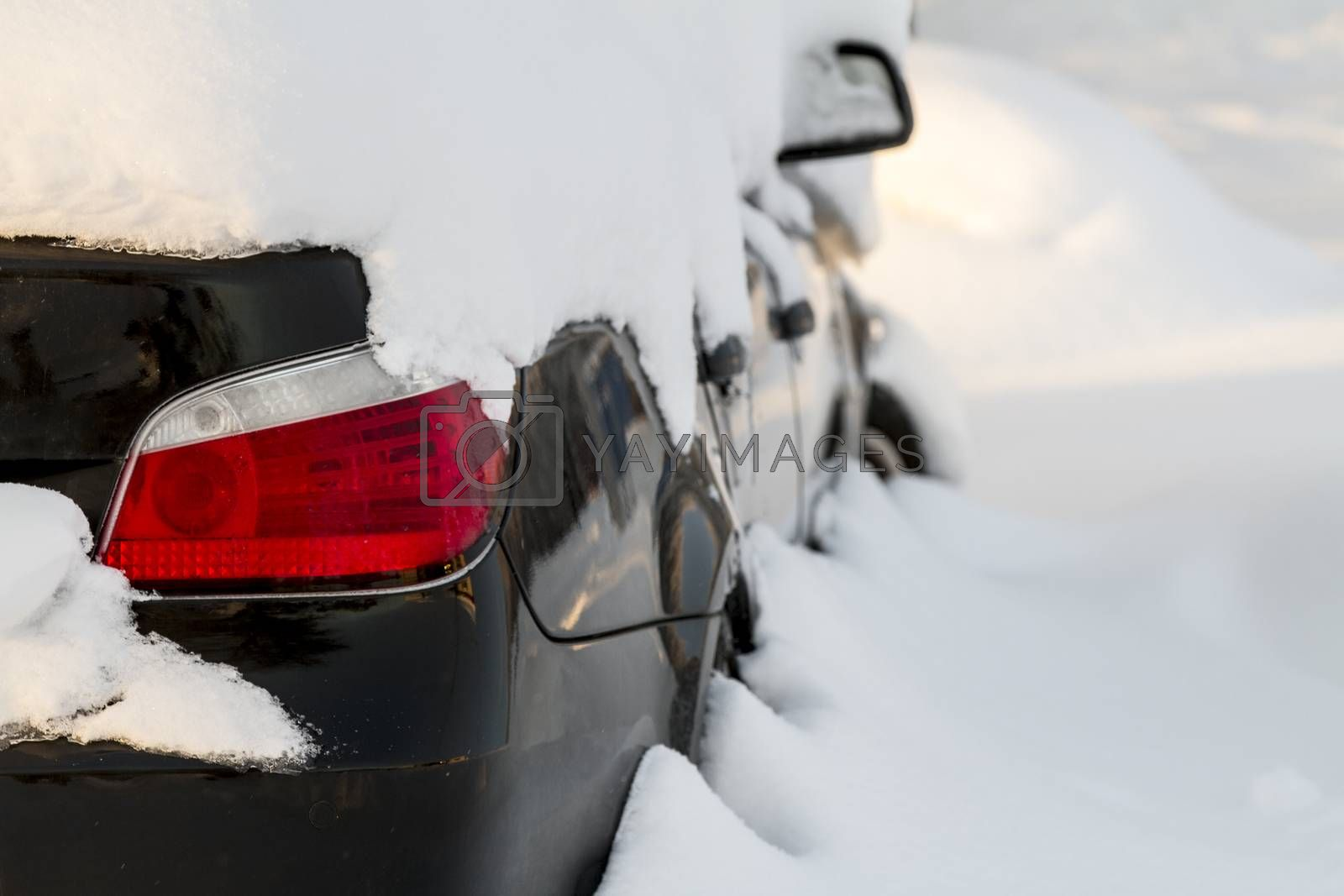 Car covered in snow not able to move any where