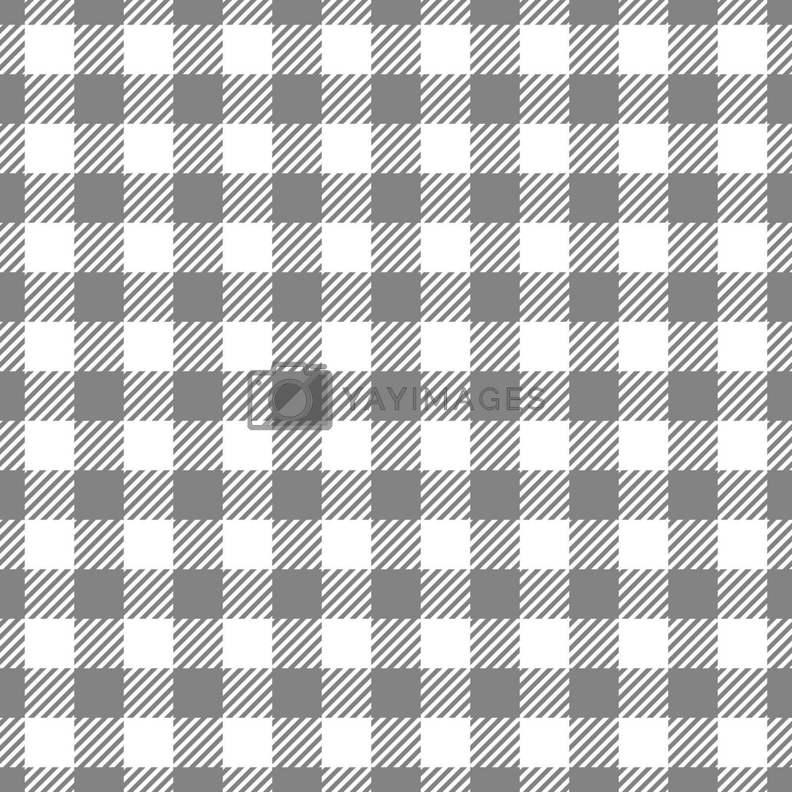 Seamless Gray White Traditional Gingham Pattern Fabric Texture