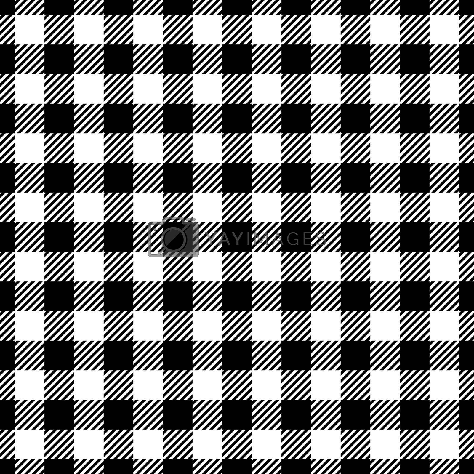 Seamless Black White Traditional Gingham Pattern Fabric Texture