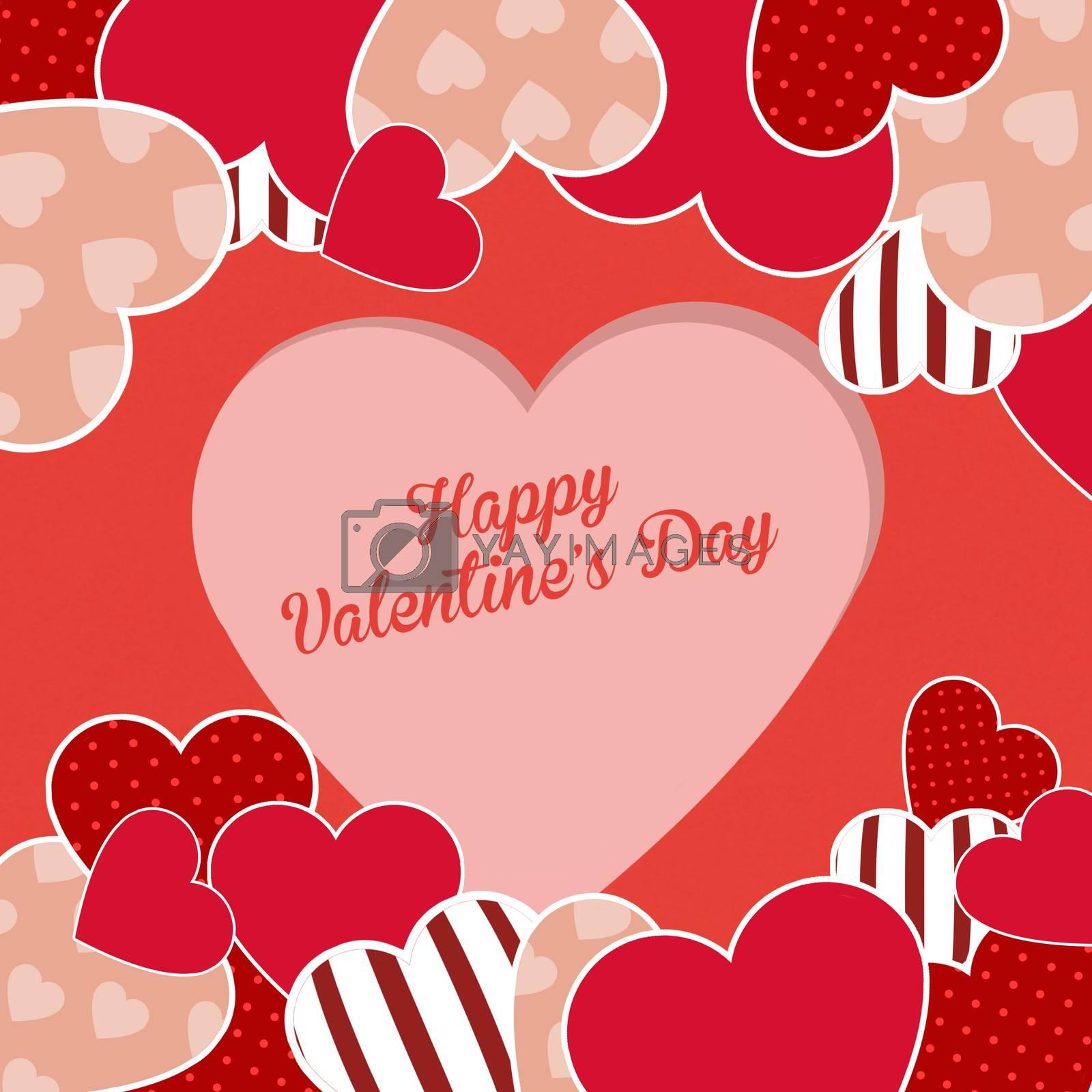 illustration of happy Valentines Day