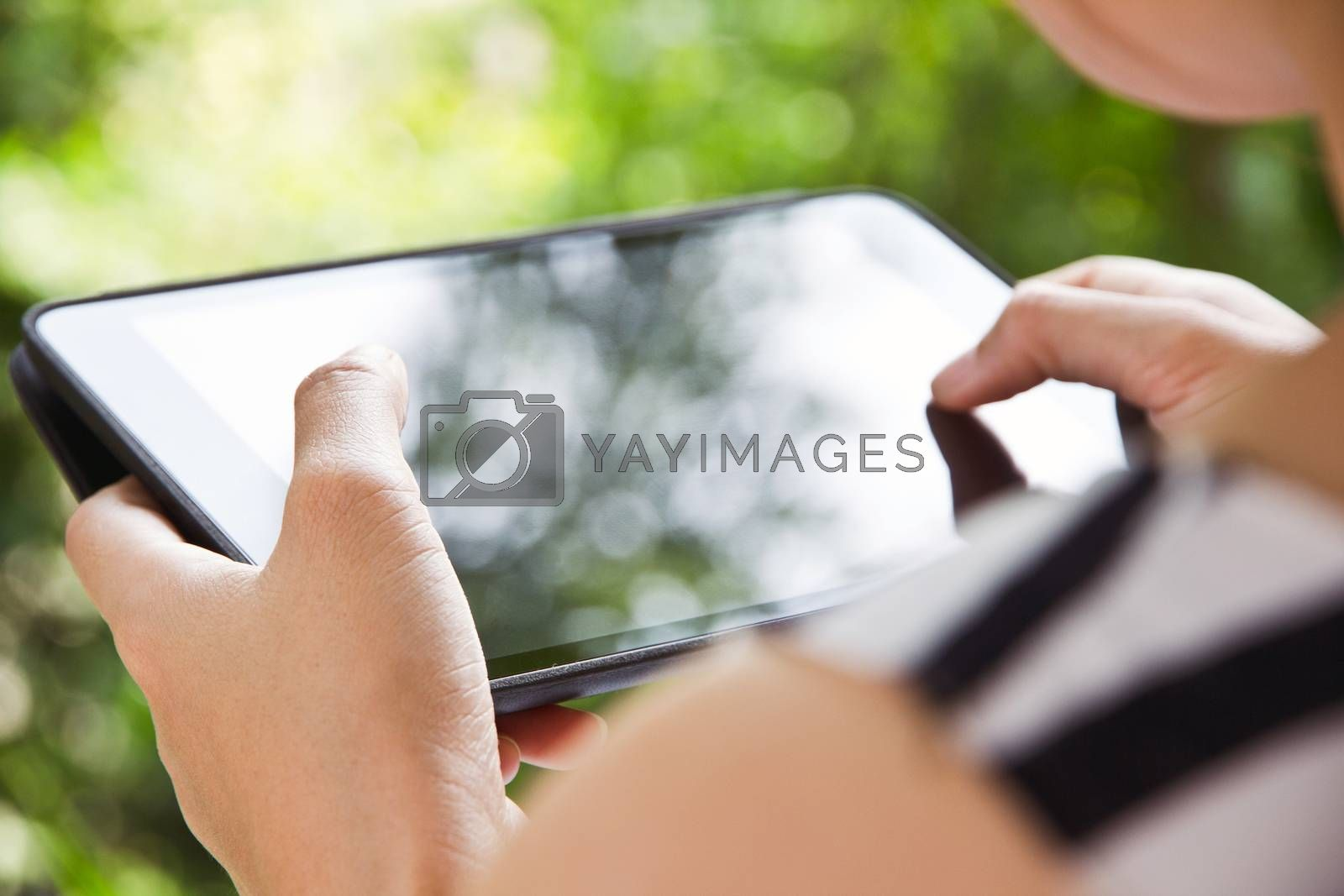 People using digital tablet,comunication technology