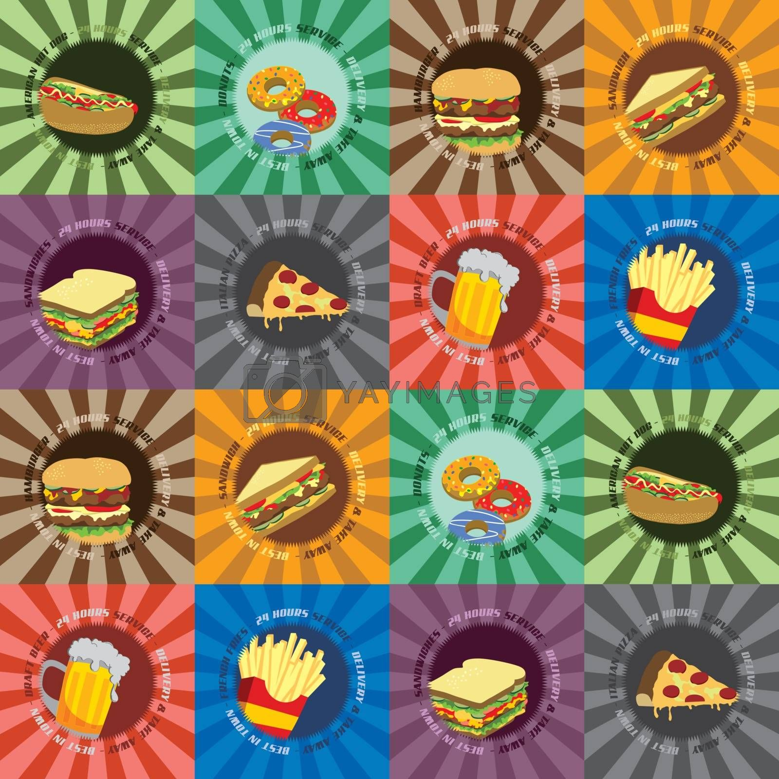 food and drink cartoon theme vector graphic art illustration