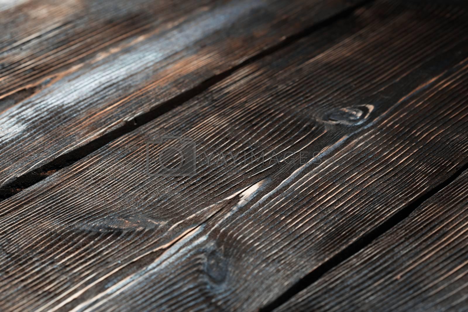 Hardwood planks. High angle view