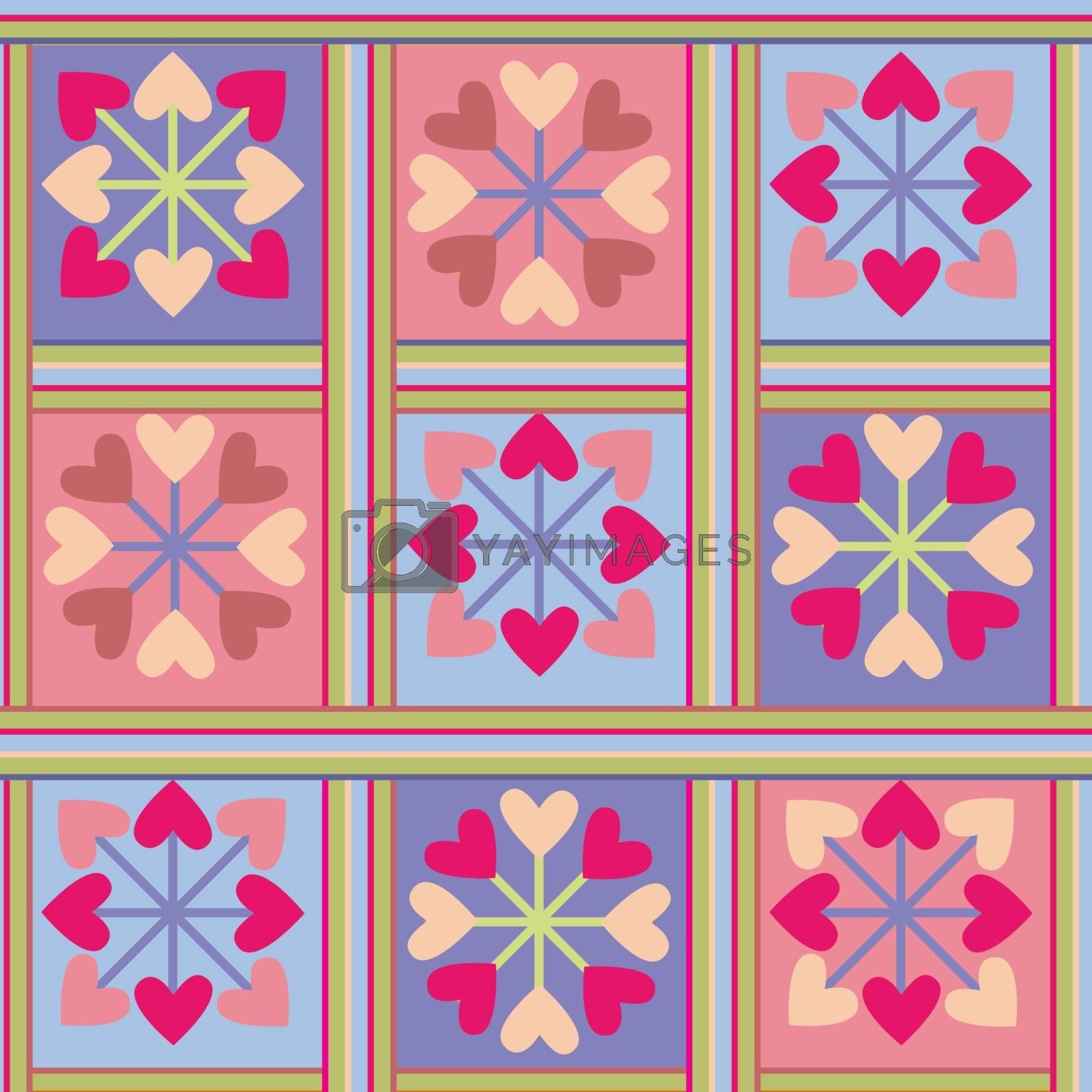 Valentine hearts background  seamless romance pattern