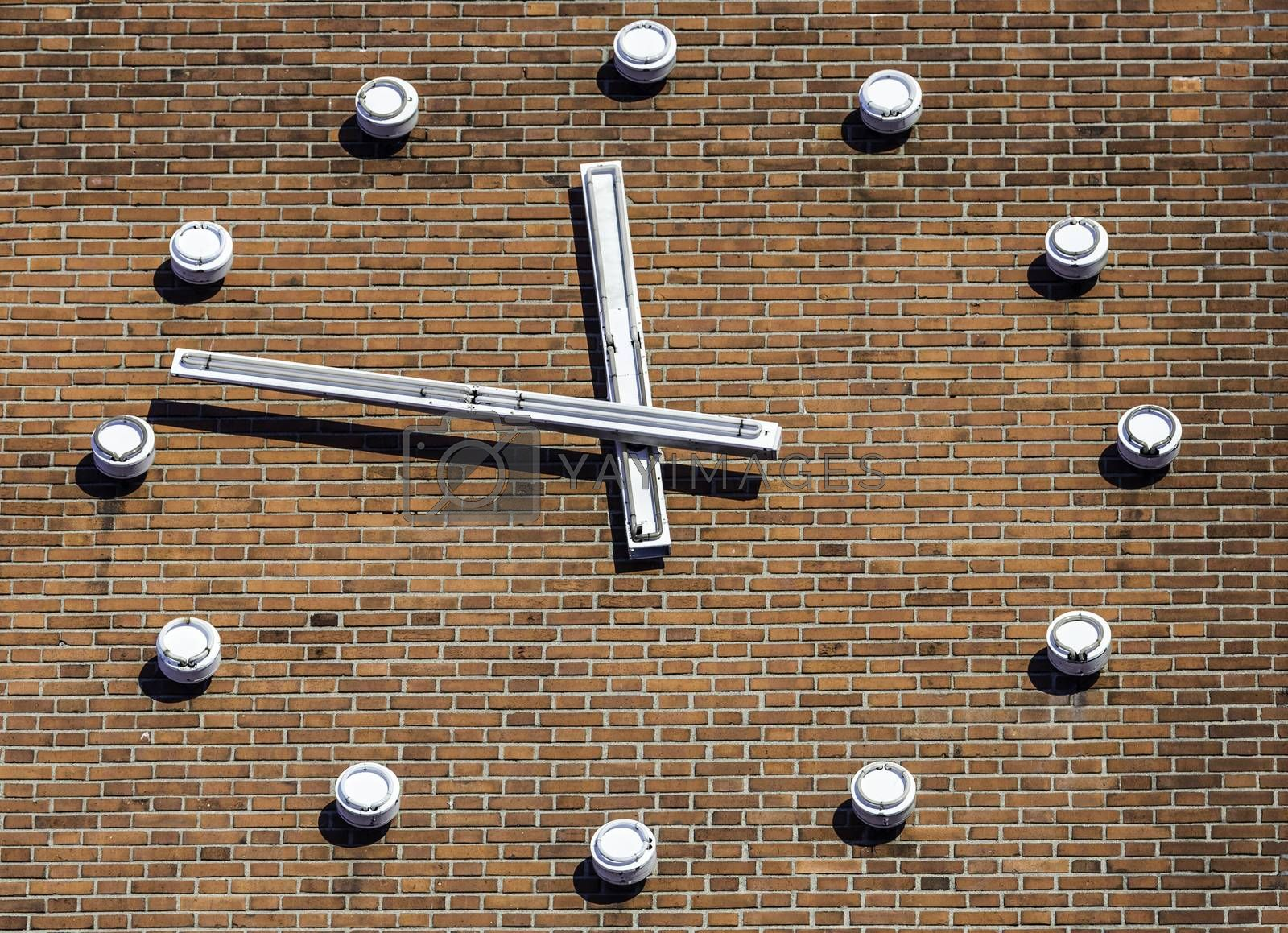 Large Clock on Building by Emmoth