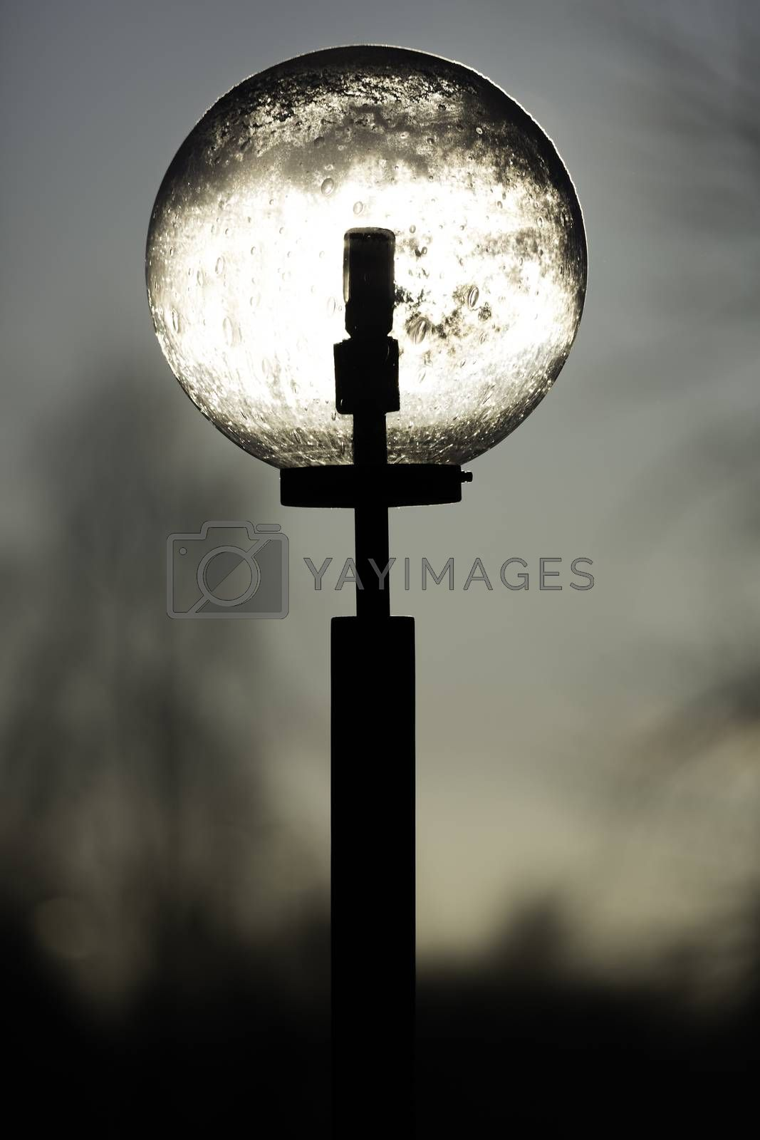 Sun Light Shining through Street Light by Emmoth