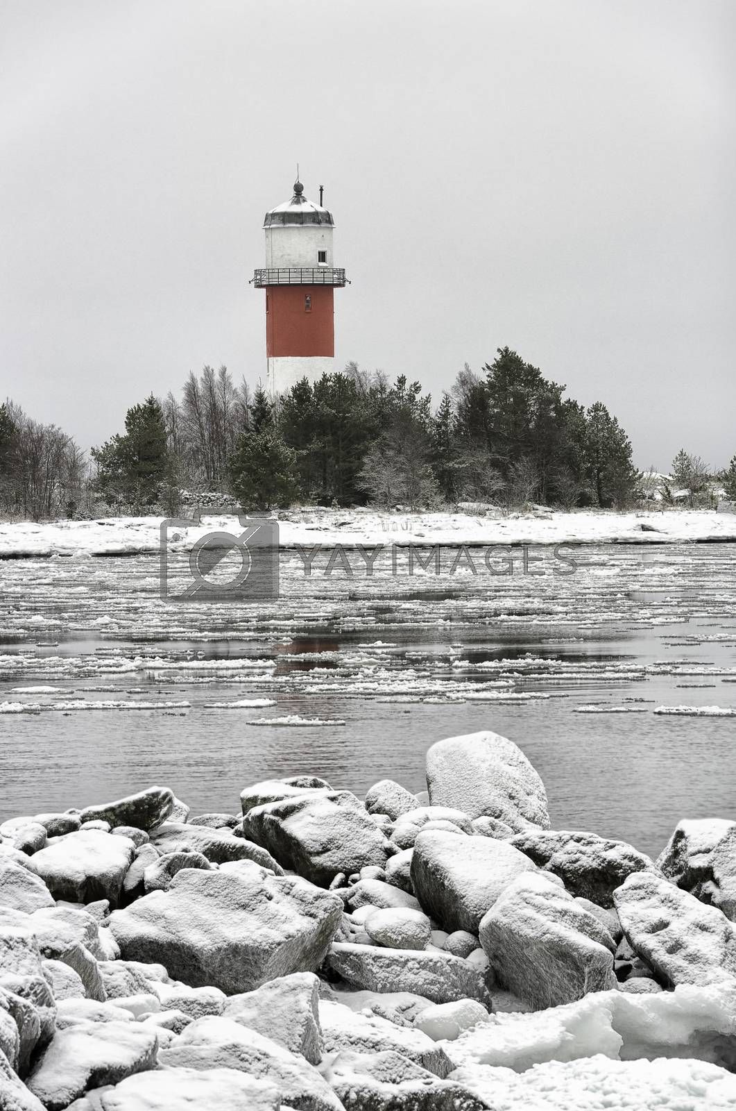 Light House with Icy Ocean  by Emmoth