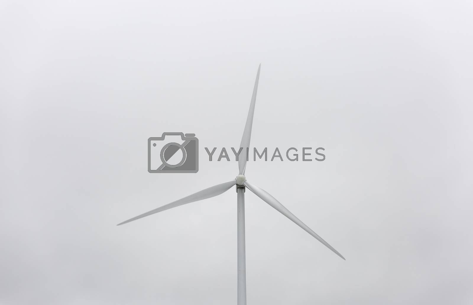 Wind Power Station with Gray Sky by Emmoth