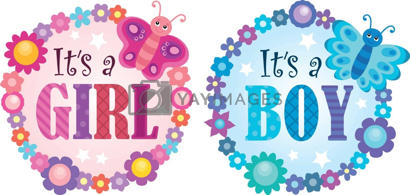 Is it a girl or boy theme 5 - eps10 vector illustration.