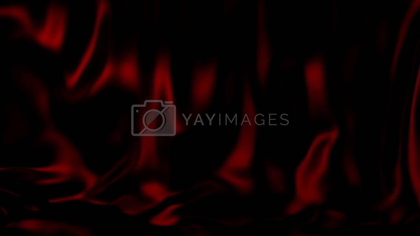 3D Illustration Abstract Red Background Silk Cloth