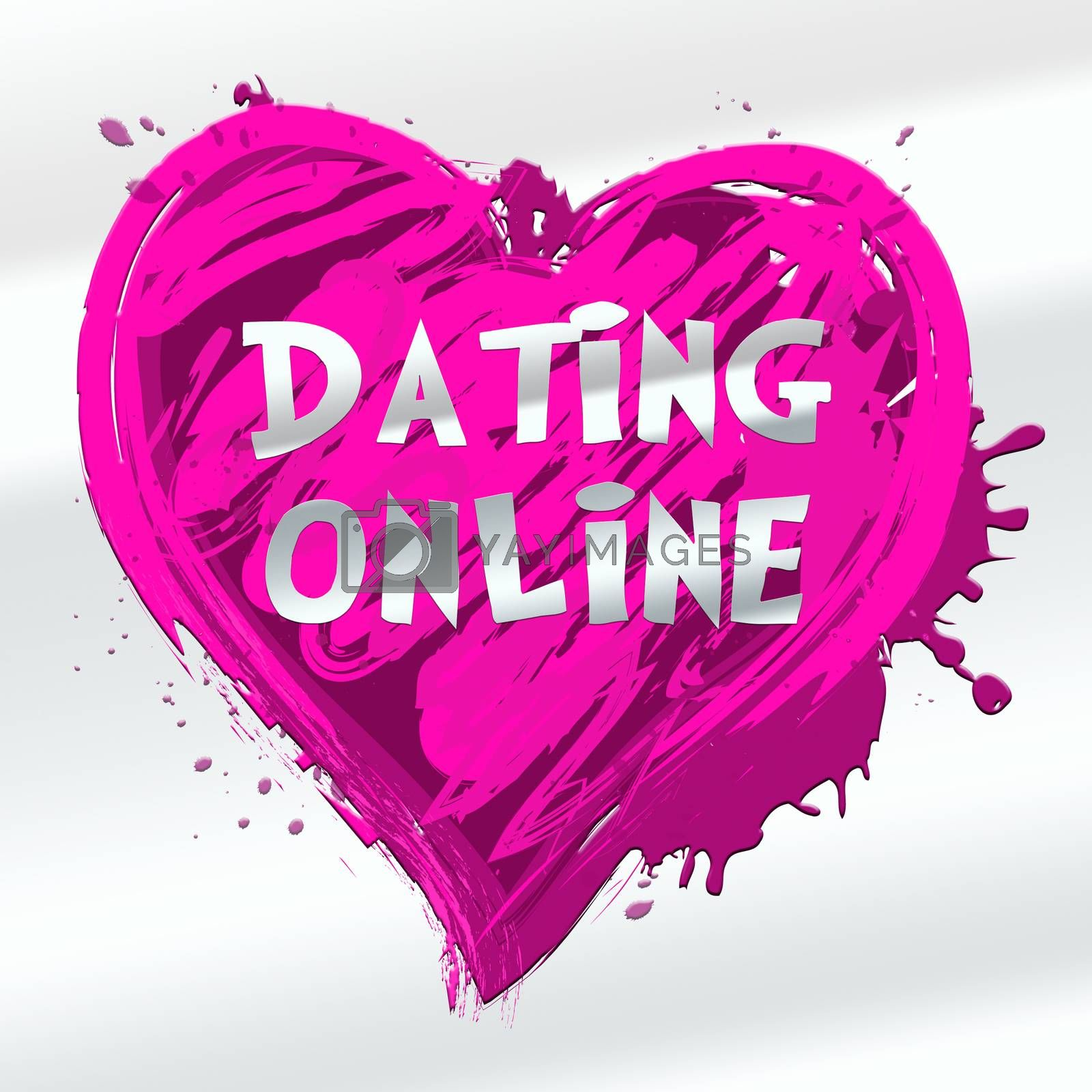 Dating Online Heart Design Indicating Sweethearts Romance 3d Illustration