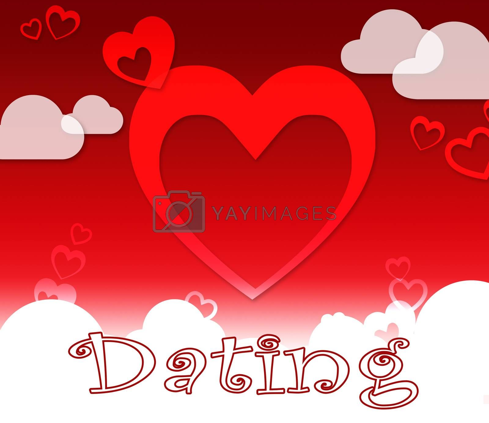 Dating Hearts Indicating Sweetheart Partner And Relationships