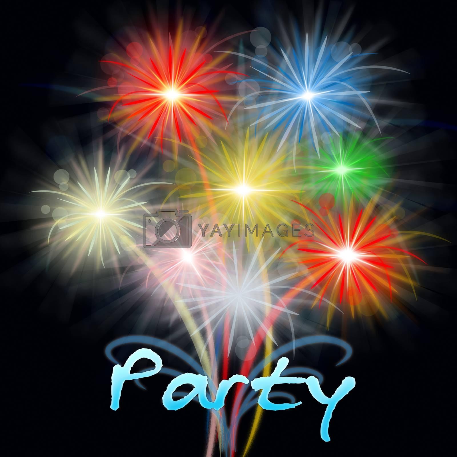 Fireworks Party Shows Exploding Pyrotechnic Explosive Celebration