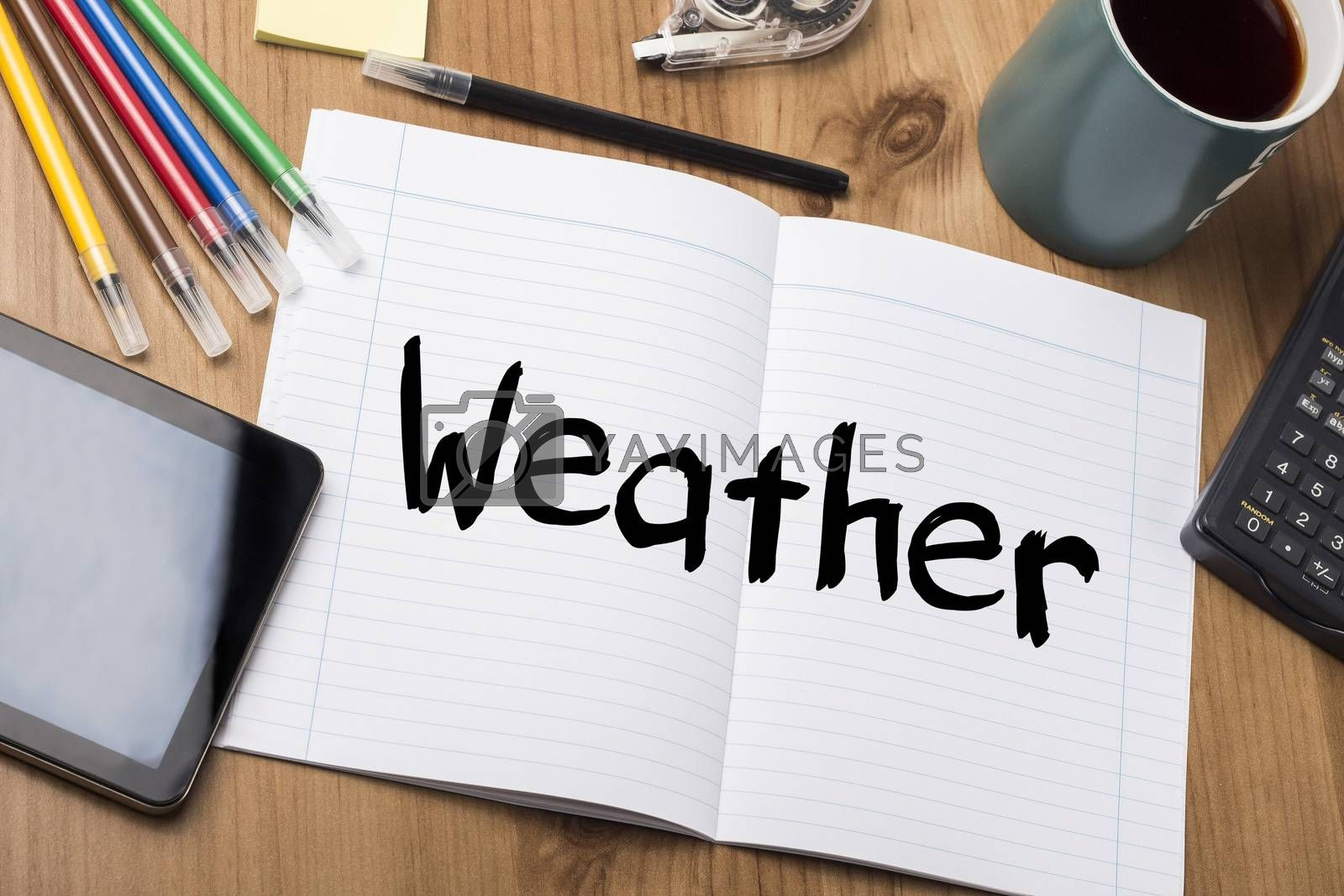 Weather - Note Pad With Text by zsirosistvan