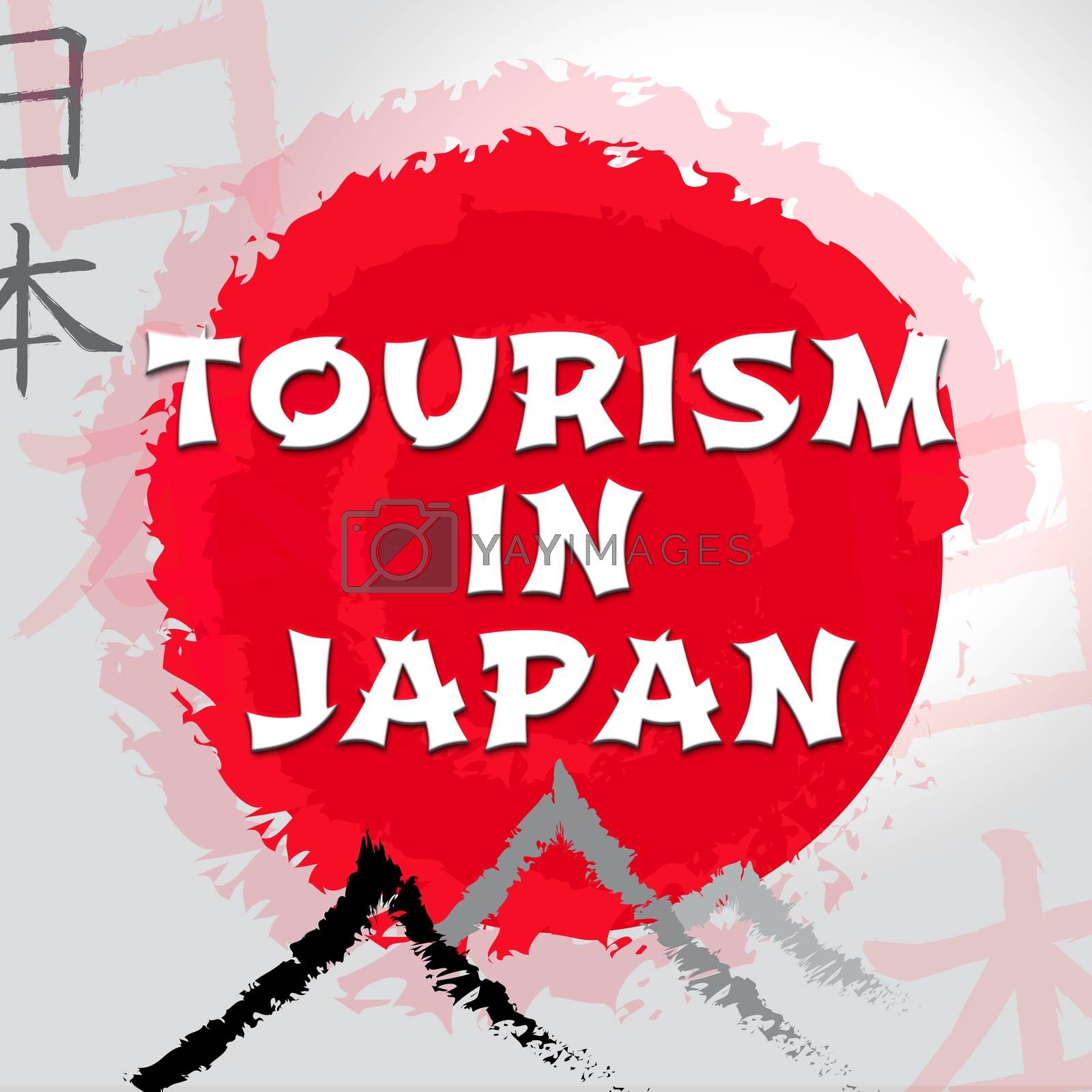 Tourism In Japan Shows Japanese Travel Or Tours