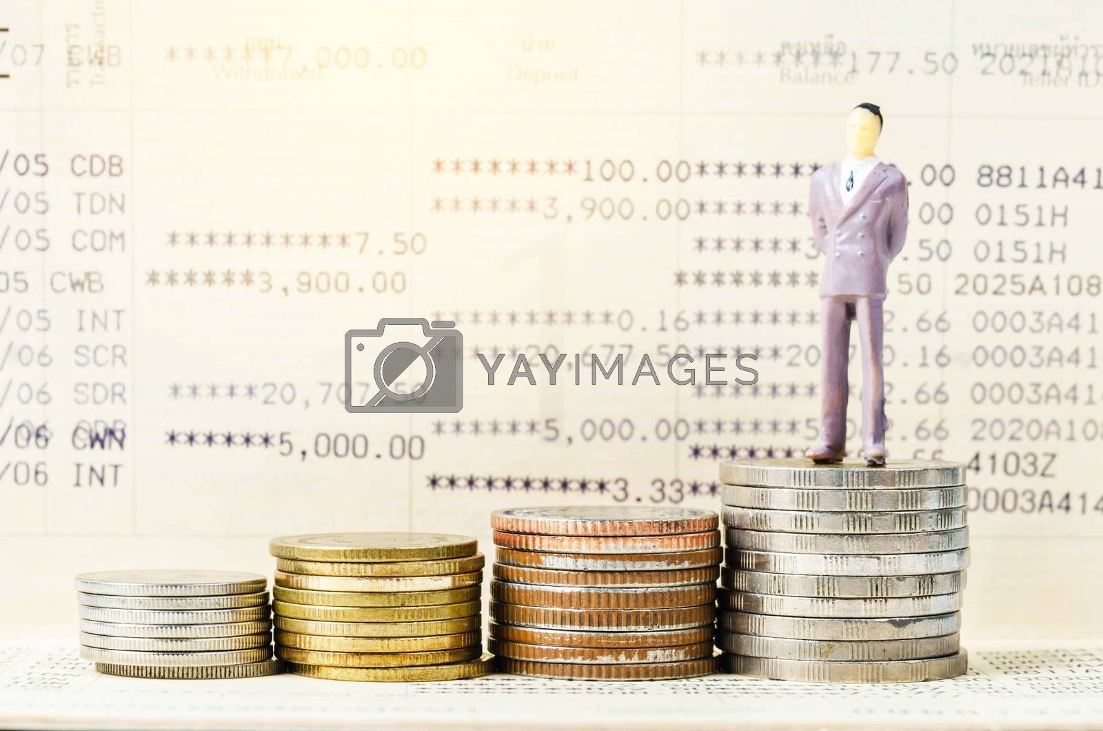 The Financial concept. by Gamjai