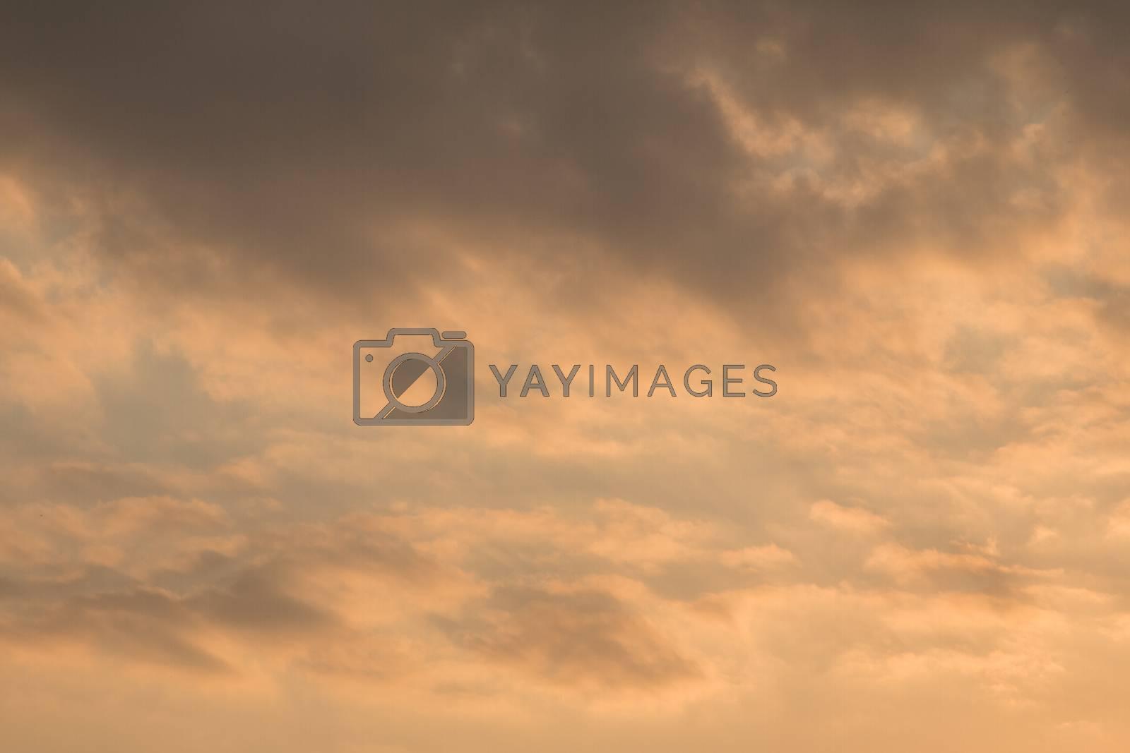 Golden sky background