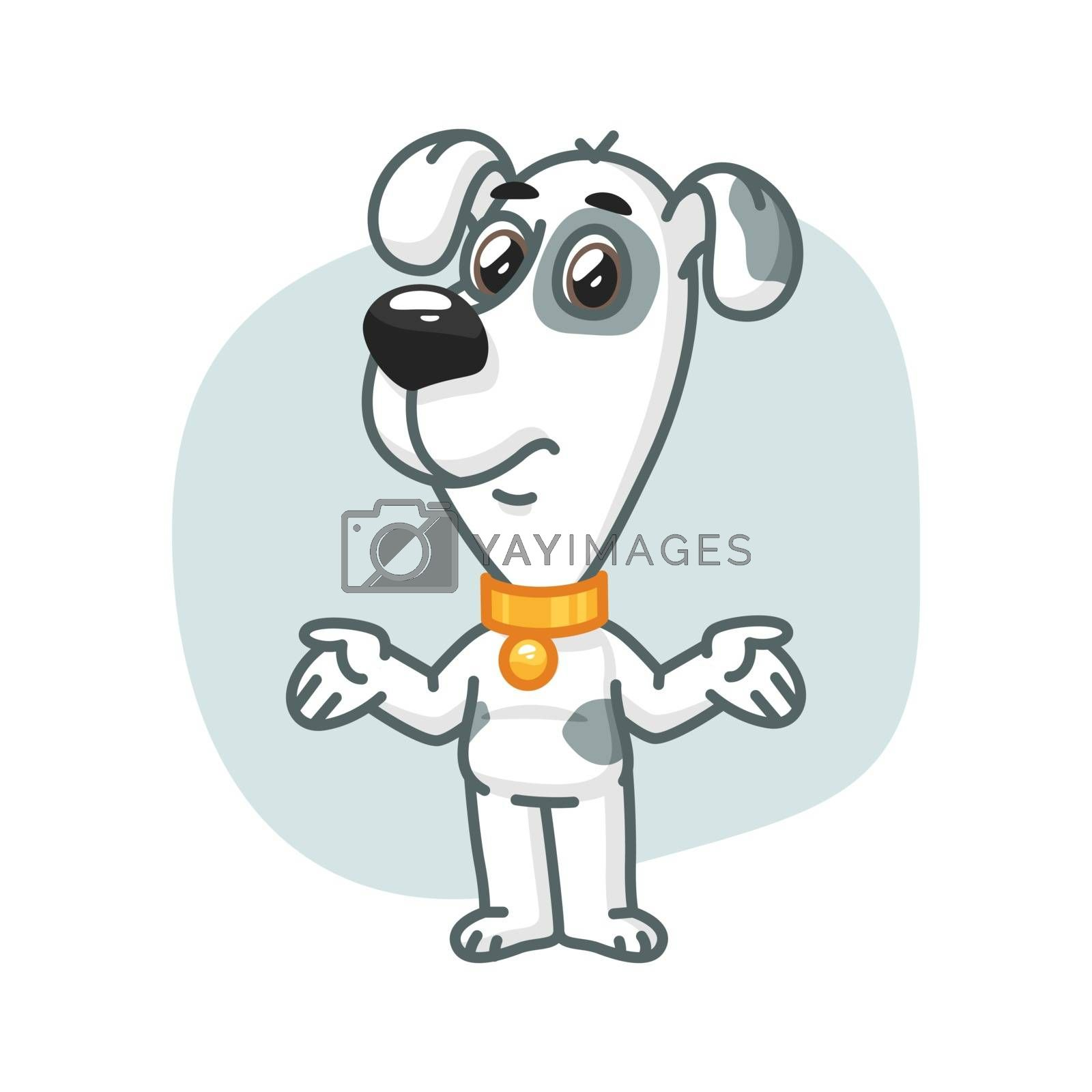 Vector Illustration, Dog Does Not Know What to Do, Format EPS 10