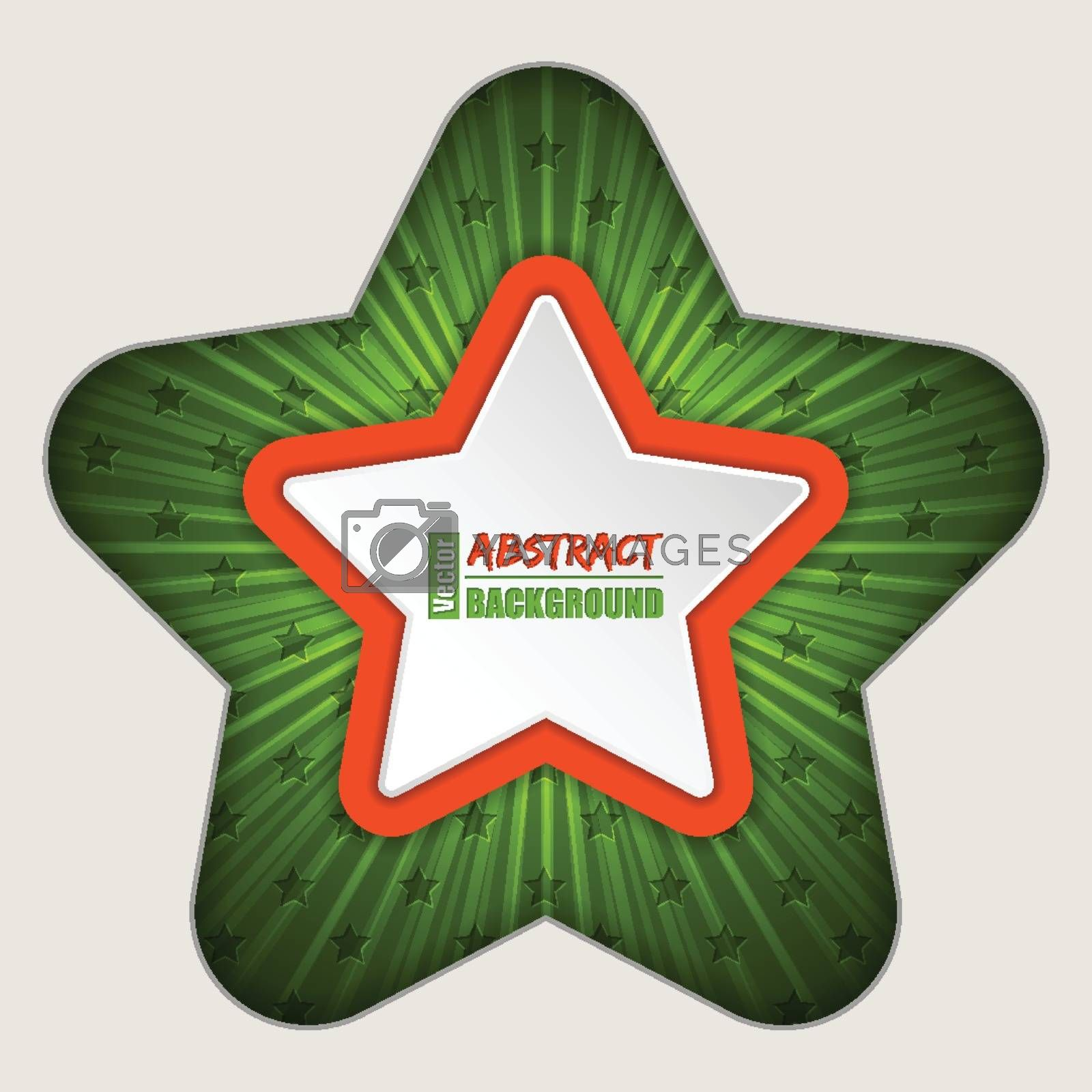 Abstract star brochure background with bursting effect