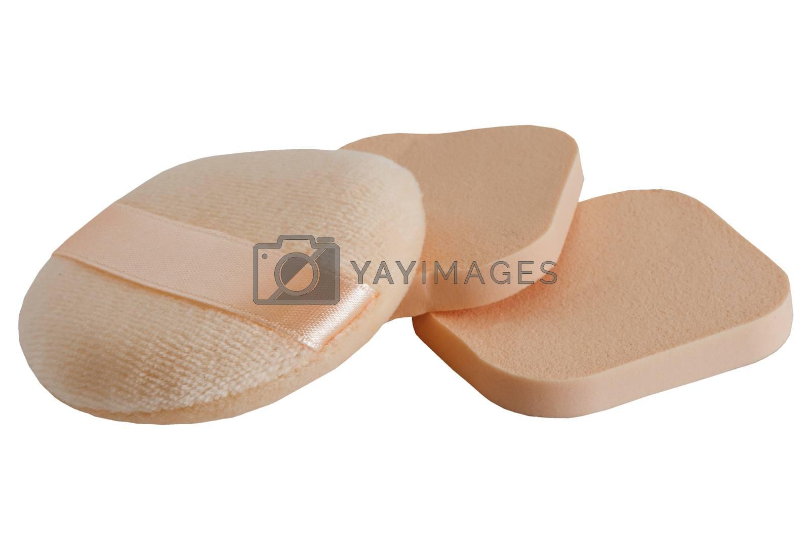 a three sponges for a facial care