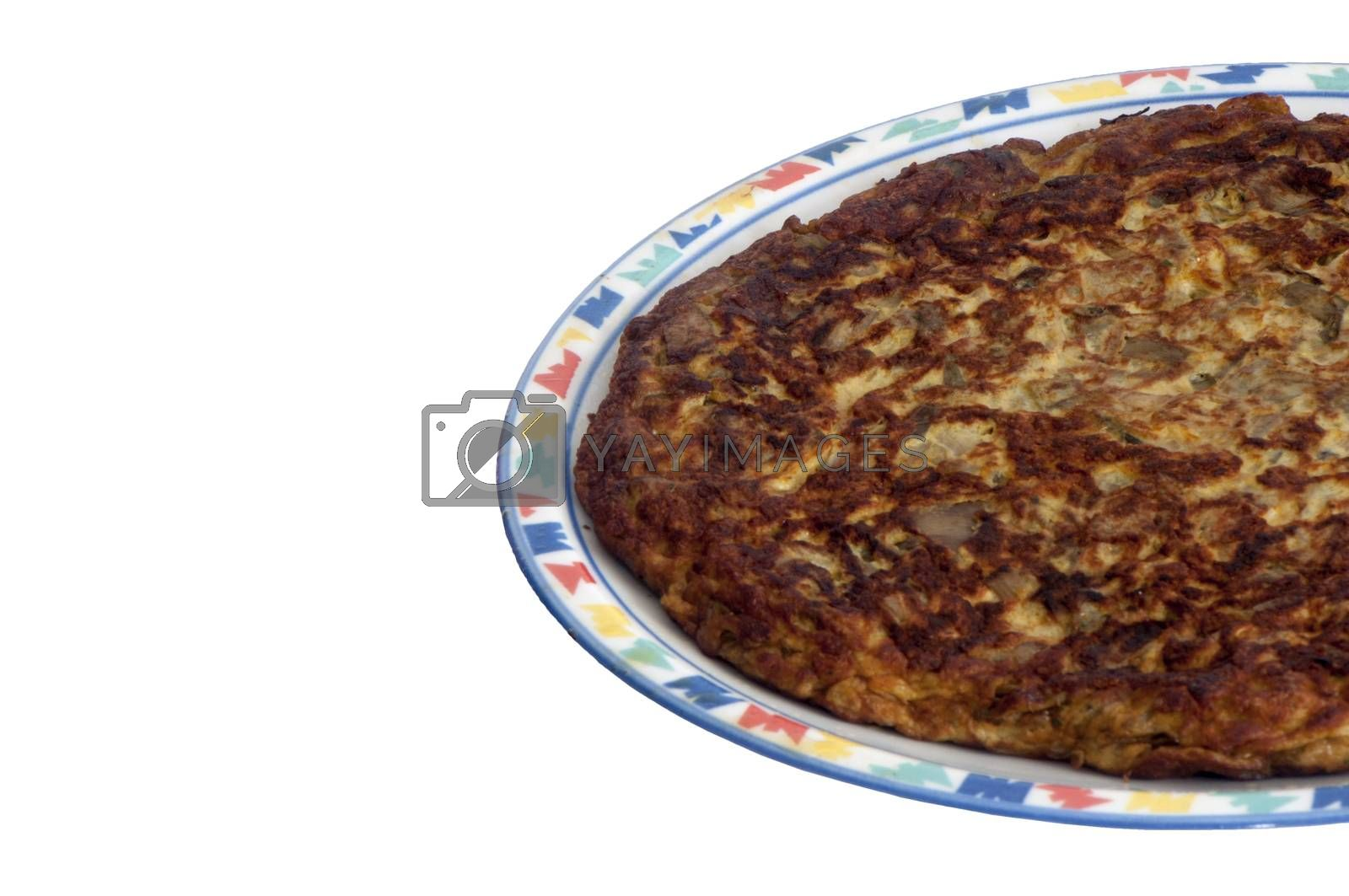 a delicious omelet with spinach and leeks