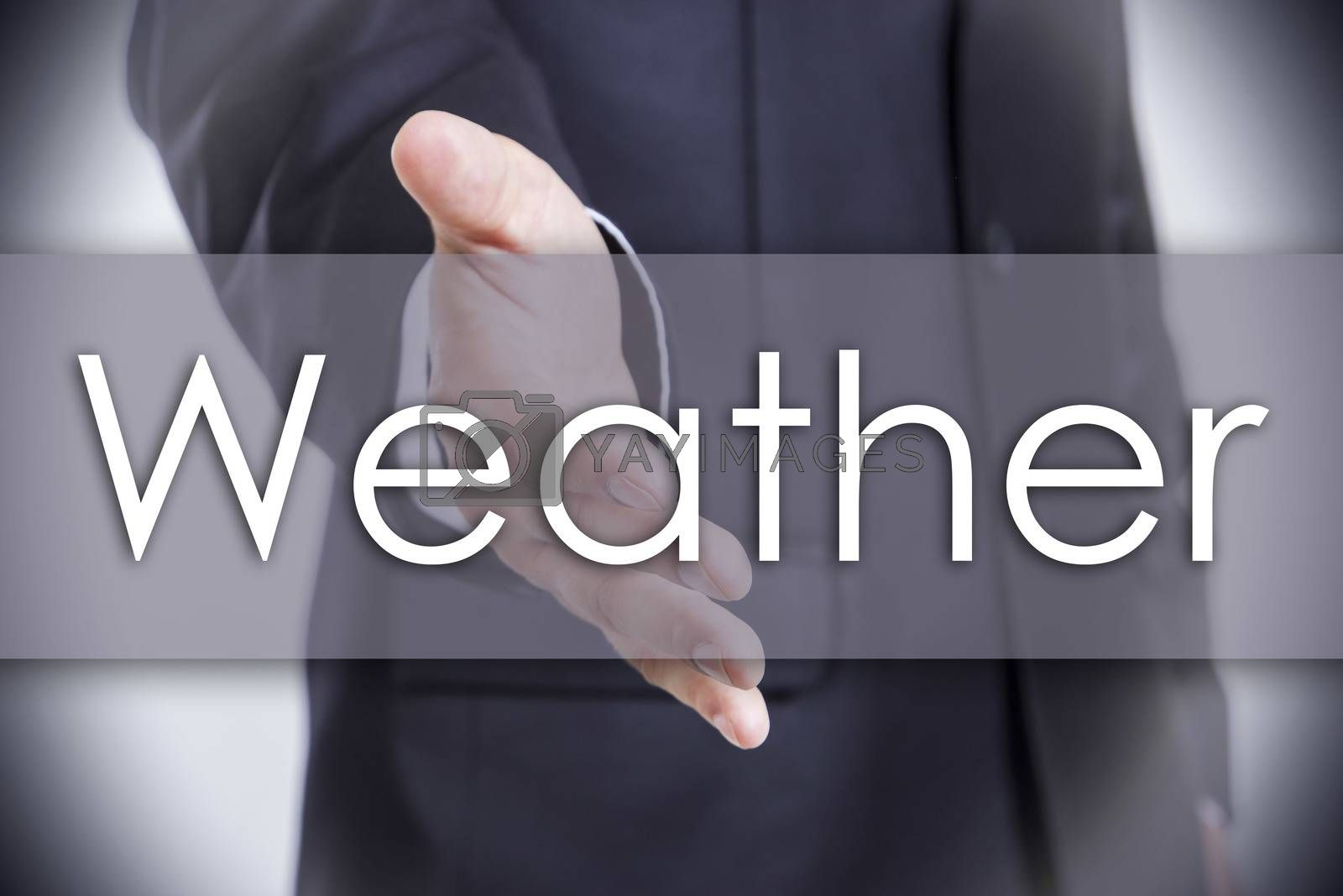 Weather - business concept with text by zsirosistvan