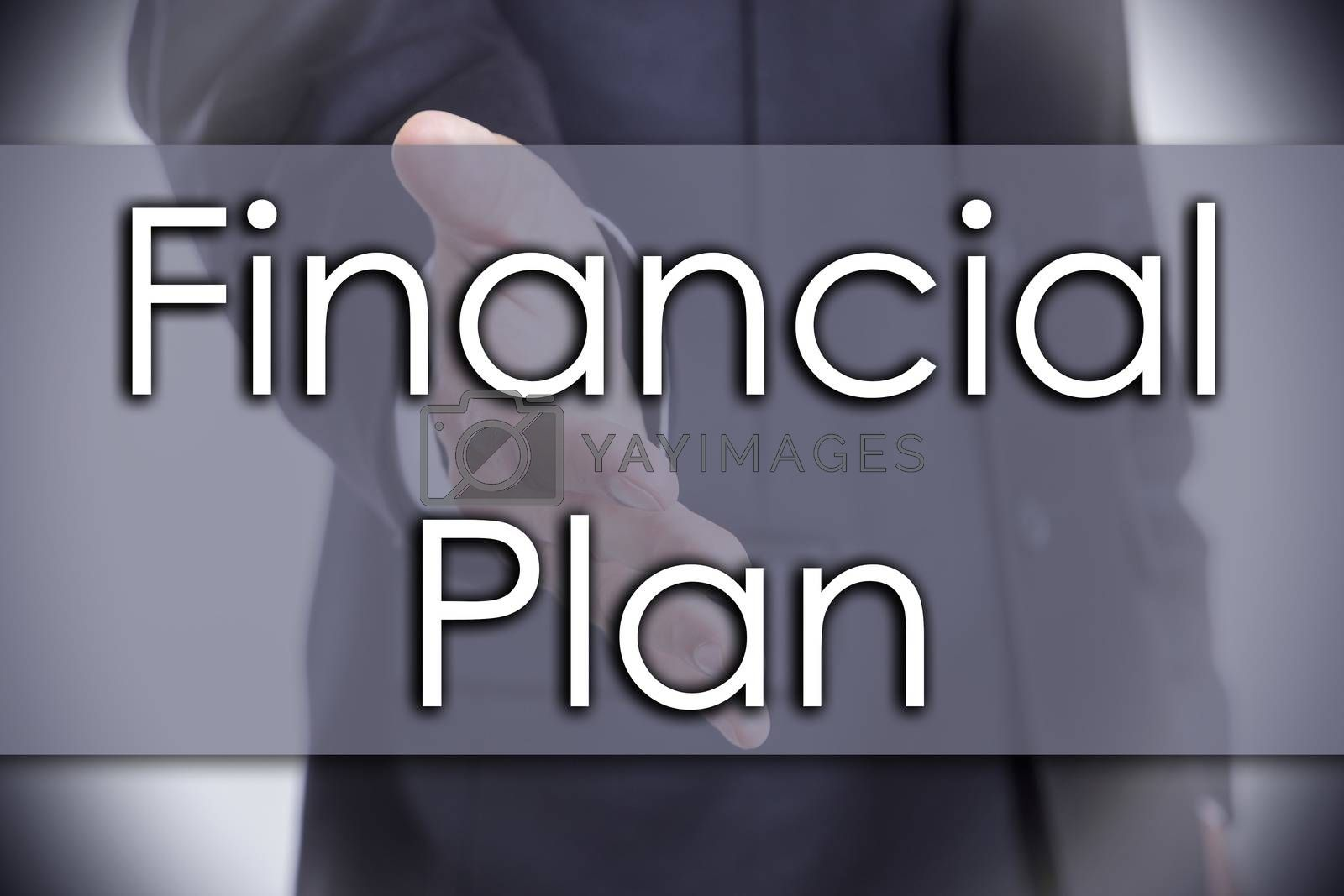 Financial Plan - business concept with text by zsirosistvan