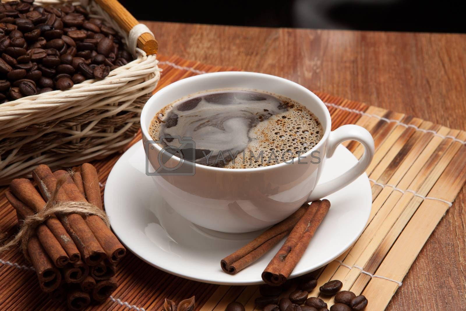 Royalty free image of coffee sill life with cup of coffee by mizar_21984