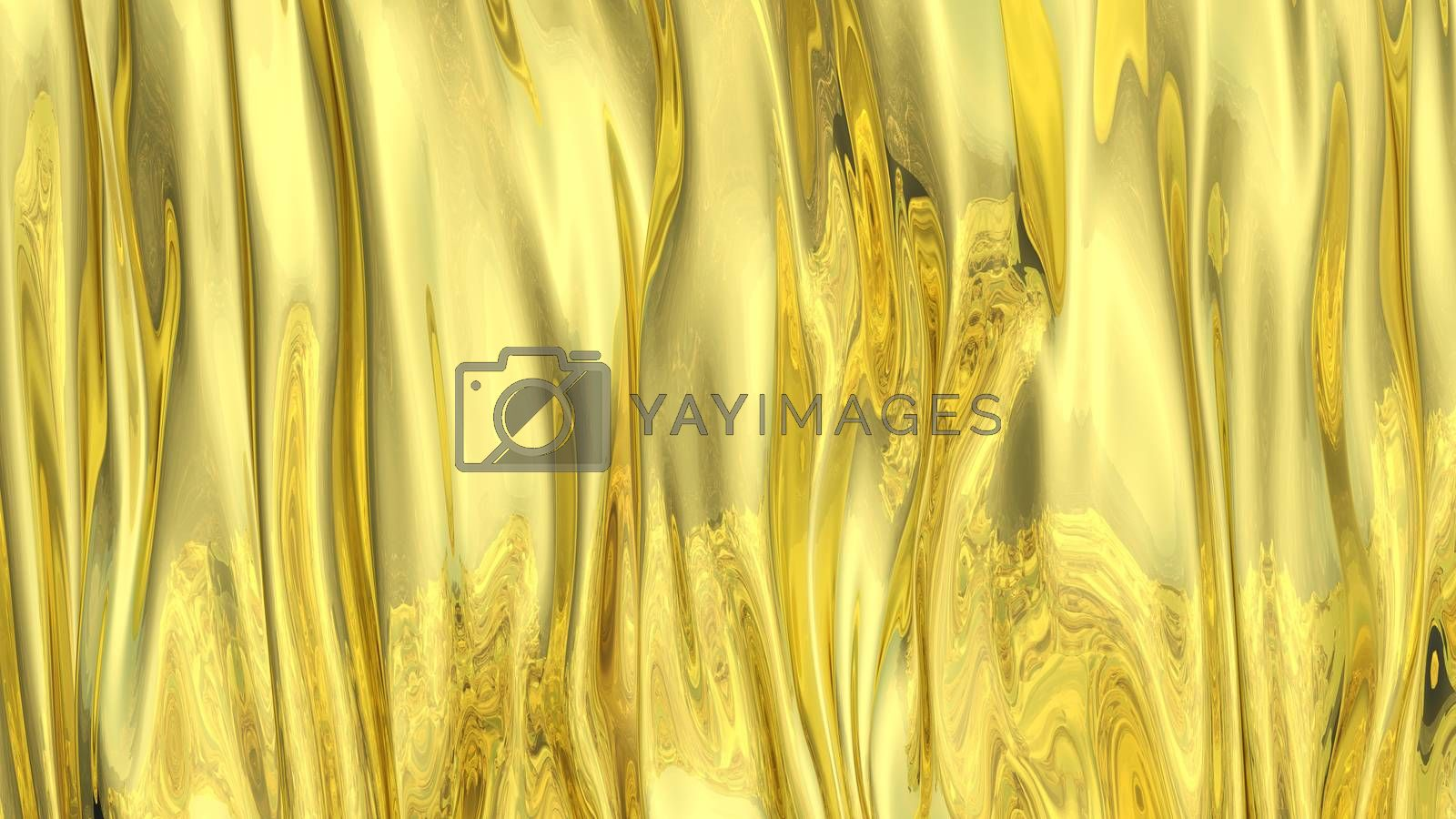 3D Illustration Abstract Gold Background Silk Cloth