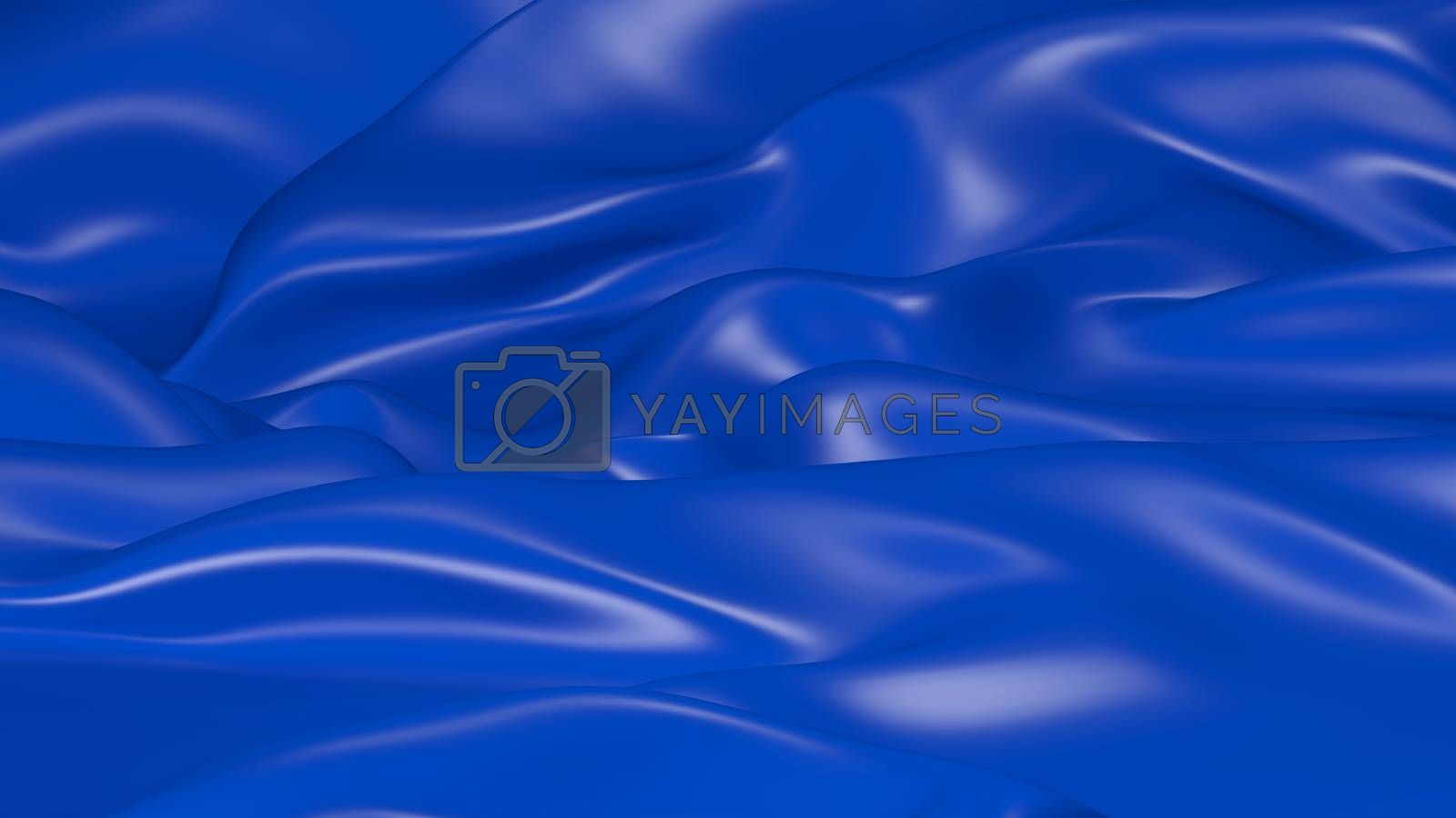 3D Illustration Abstract Blue Background with Glare