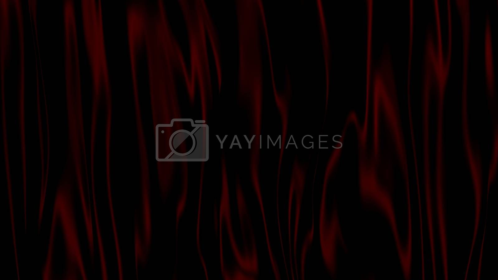 3D Illustration Abstract Black with Red Background with Glare