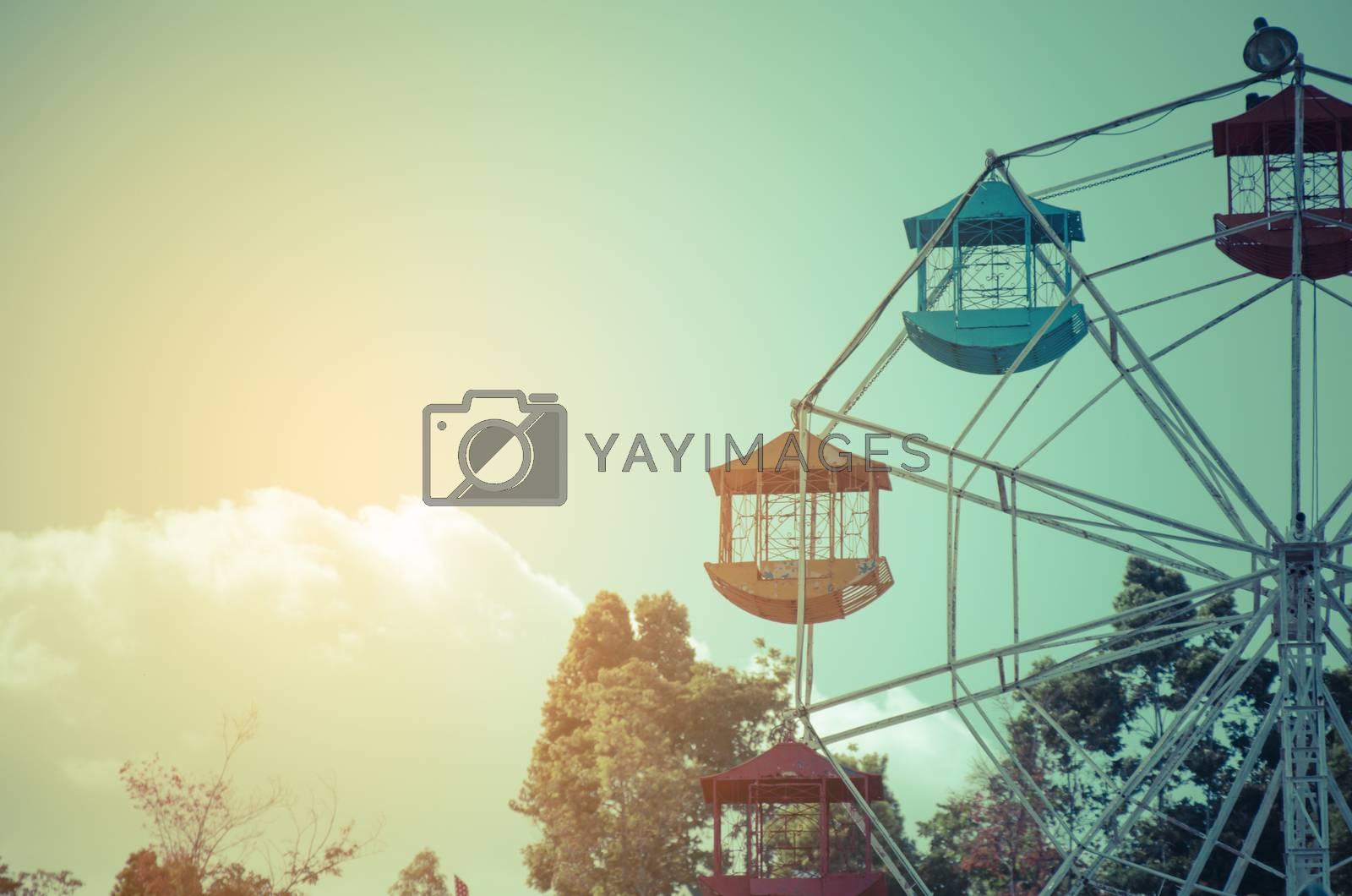 Ferris Wheel - vintage filter effect