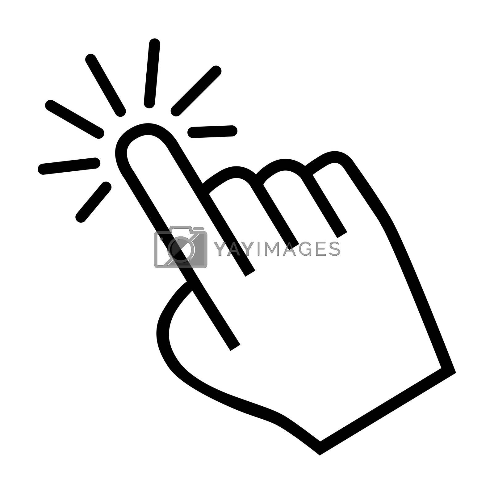 Royalty free image of cursor hand icon by mizar_21984