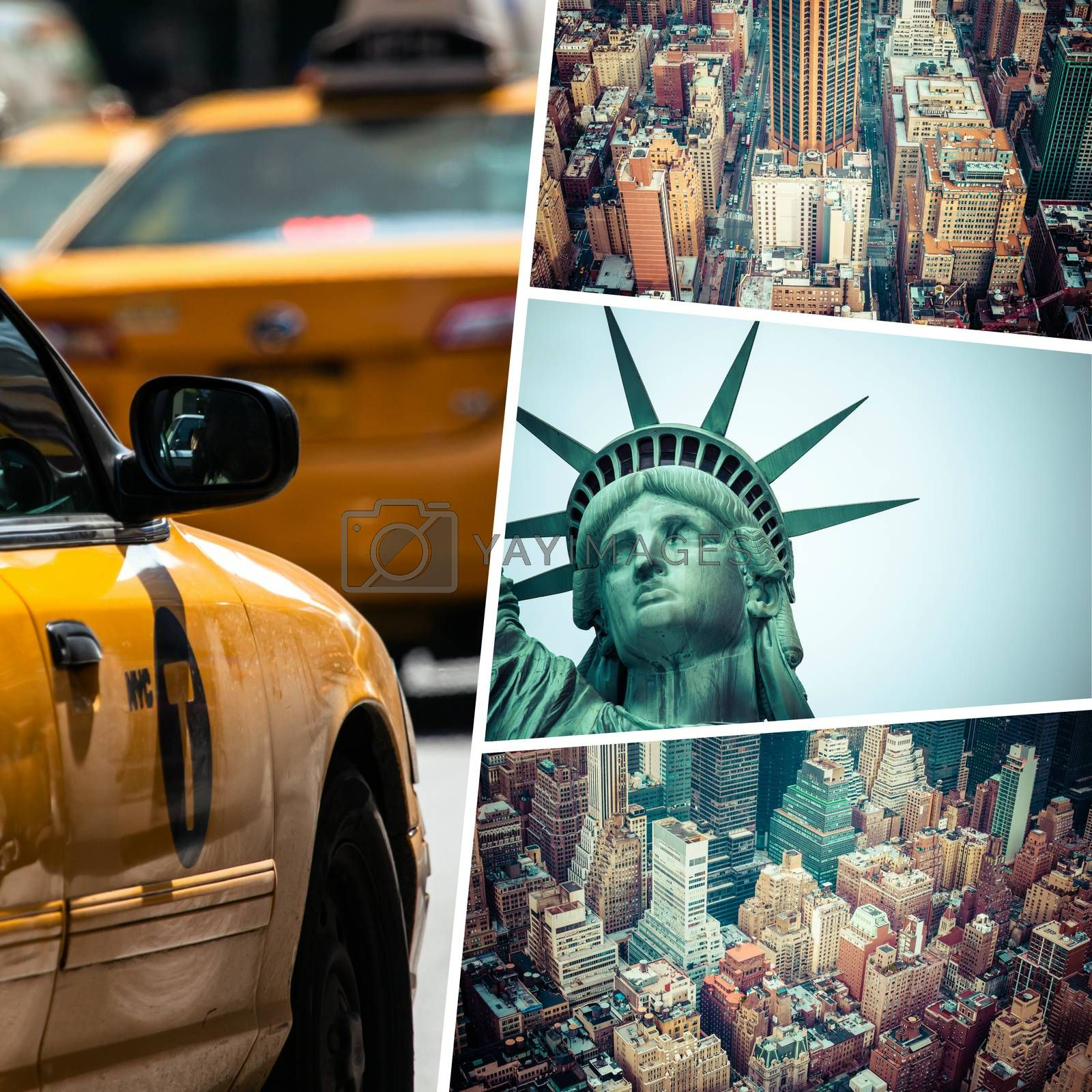 Collage of New Jork  ( USA ) images - travel background (my photos)