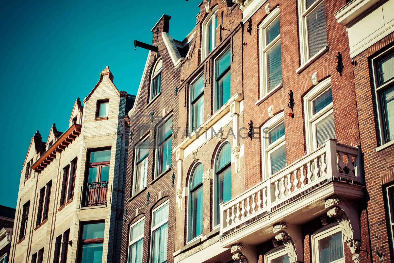 Traditional architecture in Amsterdam, the Netherlands.
