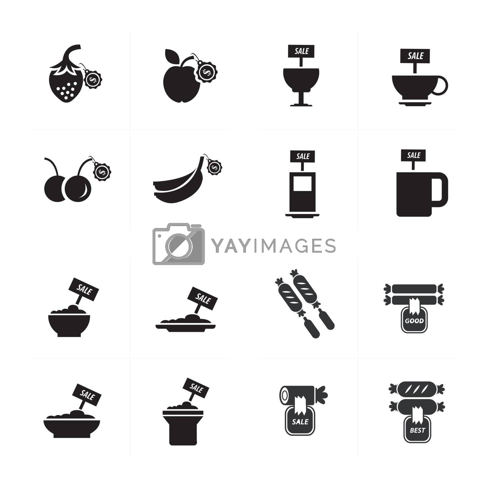 sale Foods icon set