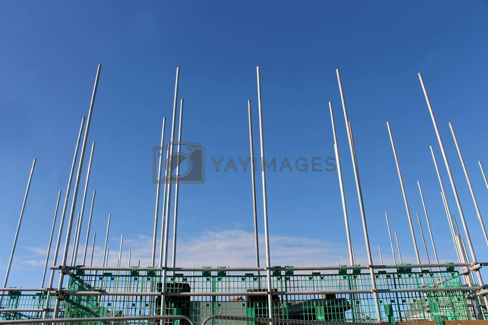 Royalty free image of Scaffolding on building site by speedfighter