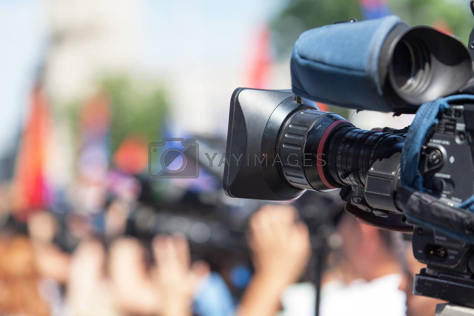 Shooting an event with a video camera