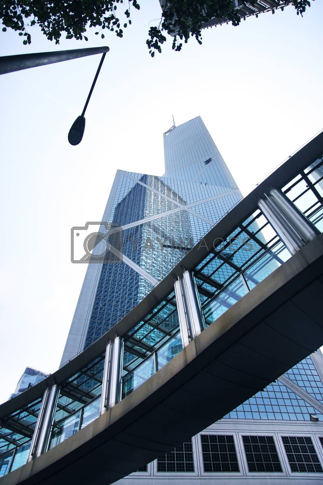 """Bank of China tower in Hong Kong. 367 meters """"BOC"""" one of the tallest in Hong Kong seen as violation of feng shui principles to locals"""