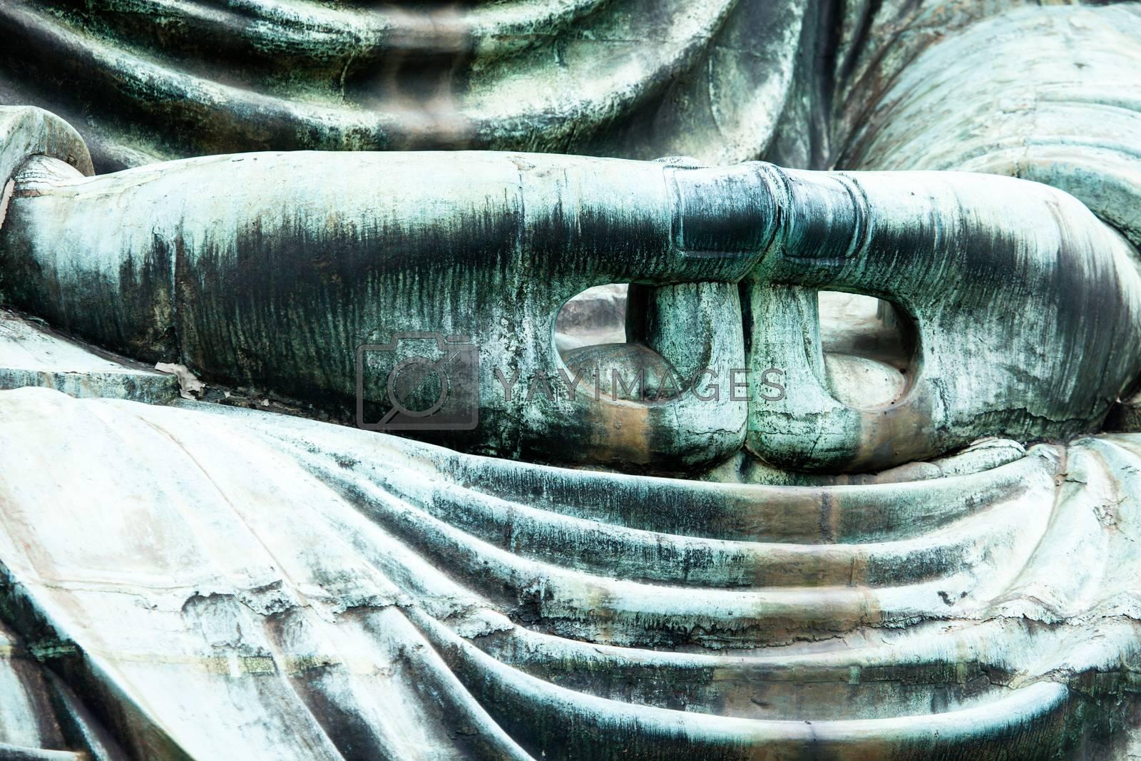 The Great Buddha (Daibutsu) on the grounds of Kotokuin Temple in Kamakura, Japan.