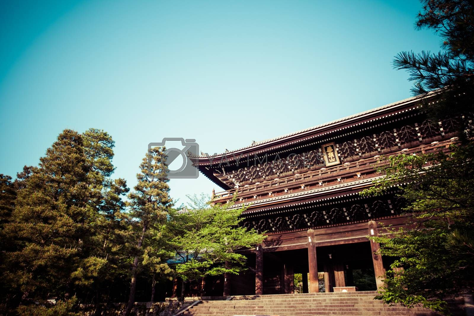 The main gate of Chion-in Temple in Kyoto